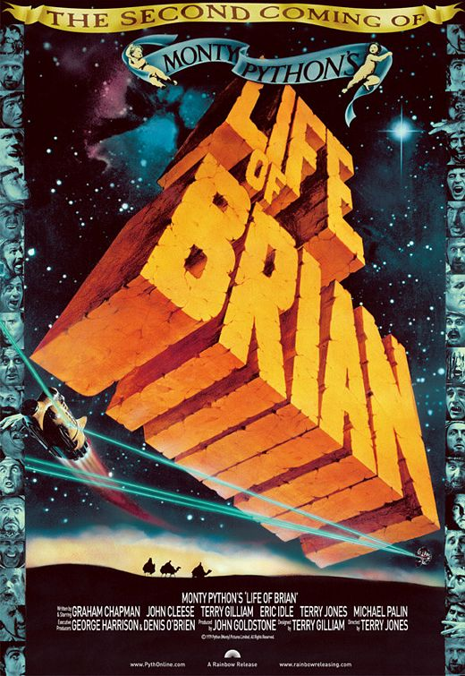 Showtime for Monty Python's Life of Brian playing May 21th